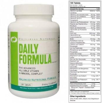 Multi Daily Formula (100tab/100päeva) UniversalNutriton USA