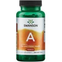 A-Vitamiin 10.000 iu (250geelkaps) Swanson USA