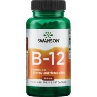 B-12 Vitamiin (100kaps/100päeva) Swanson USA