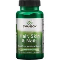Hair, Skin & Nails (60tabl/30päeva) Swanson USA