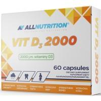 D-Vitamiin 2000iu (60kaps/60serv) Allnutrition EU