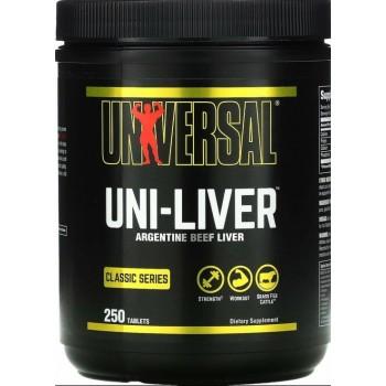 Uni Liver (Beef Amino) (250tabs/125serv) Universal USA