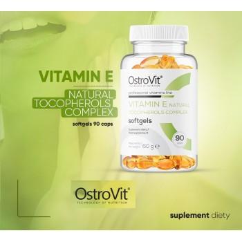 E Vitamiin Natural Tocopherols kompleks (90kaps/3kuud) OstroVit EU