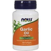 Garlic Oil 1500 (Küüslaugu õli/100 kaps) NOW USA